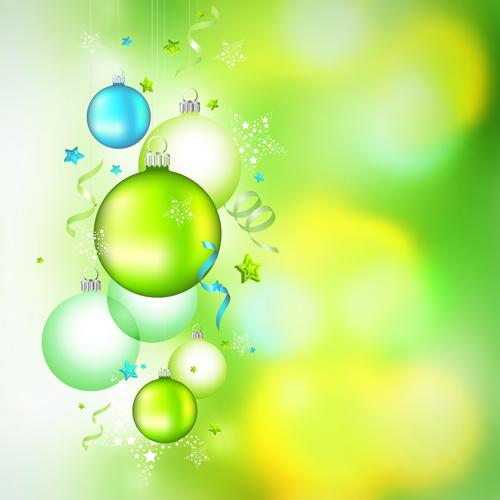 Green Christmas ball vectors graphics