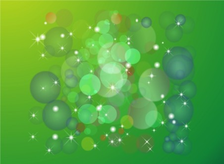 Green Circles Background Vectors