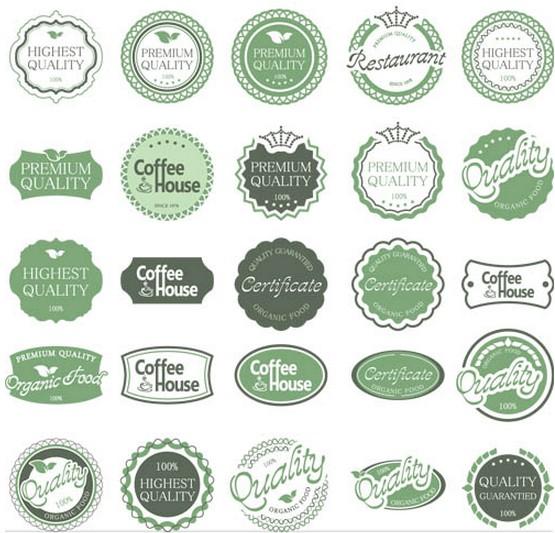 Green Color Labels art vector