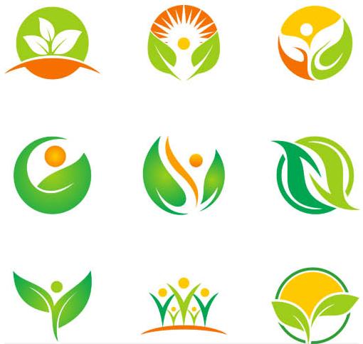 Green Ecology Symbols vector