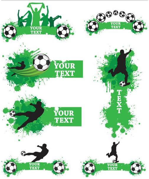Green Football Elements vector