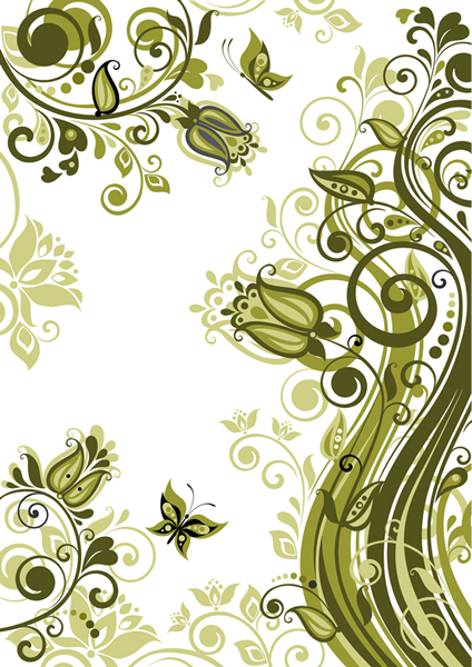 Green Plant Floral 2 vector