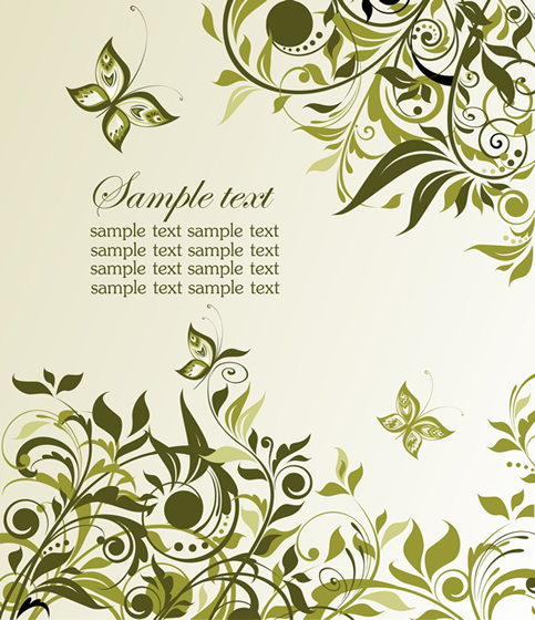 Green Plant Floral 3 vector