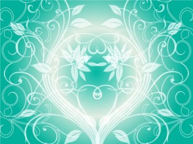 Green Plants Background vector design