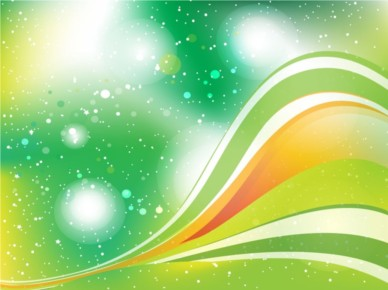 Green Swooshes background vector