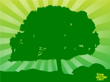 Green Tree background set vector