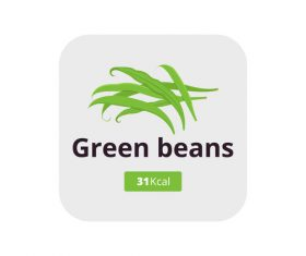 Green beans vector icon