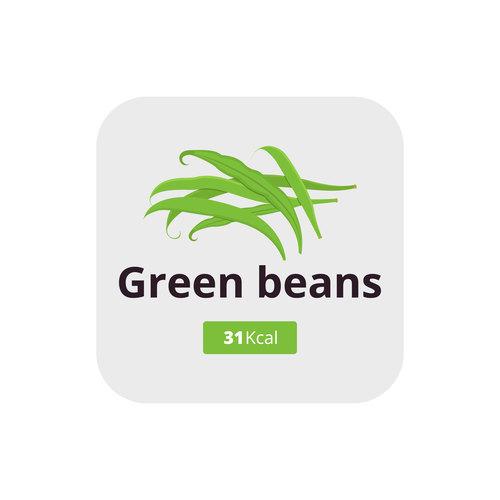 Green beans vector icon