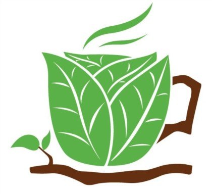 Green composition creative coffee cup vector