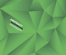 Green geometric polygon background vector