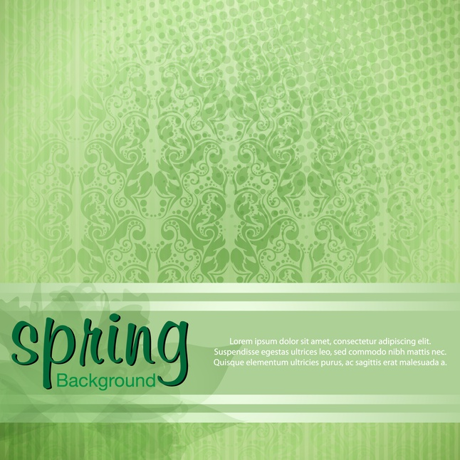 Green pattern spring background vector