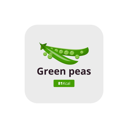 Green peas vector icon