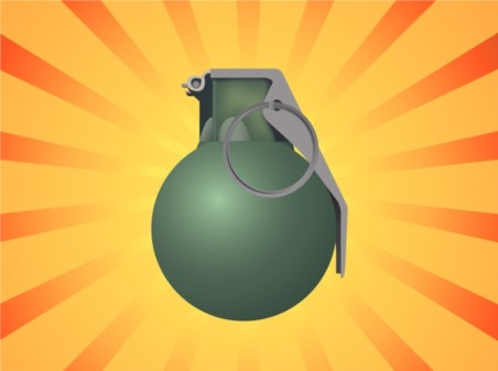 Grenade Illustration vector set