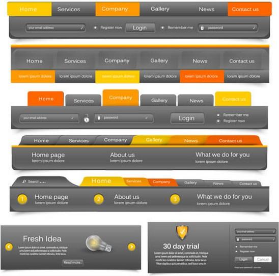 Grey Web Bars free vectors
