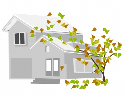 Grey house with tree Free vectors