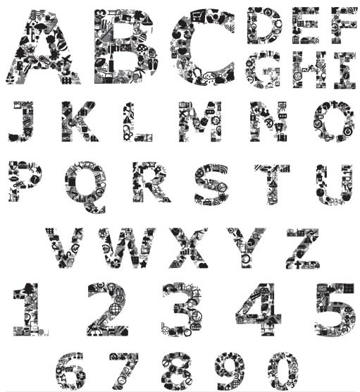 Grunge Alphabets vectors graphic