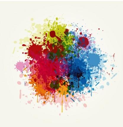 Grunge Colorful Splashing vector