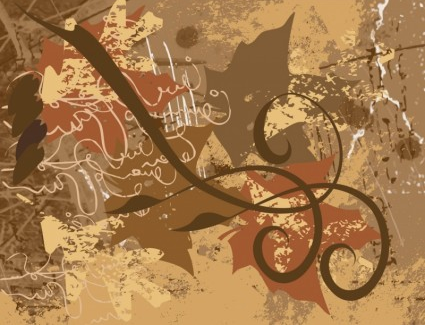 Grunge Doodles Background vector graphics