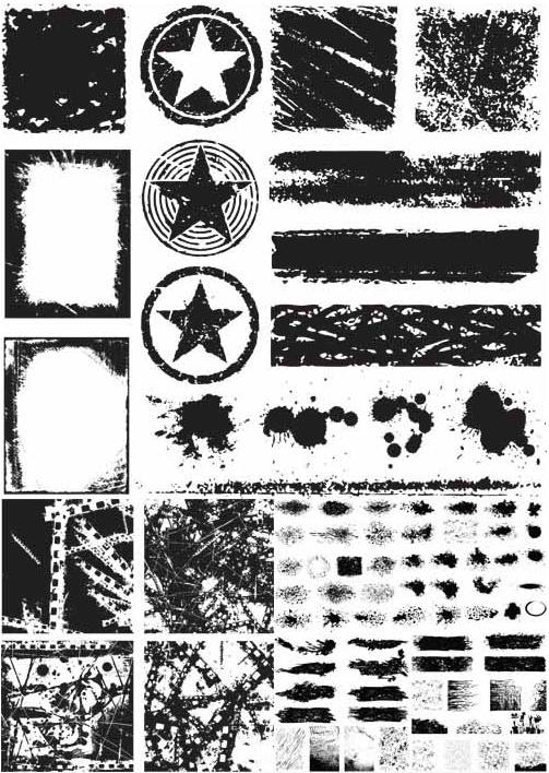 Grunge Elements Set vectors graphic