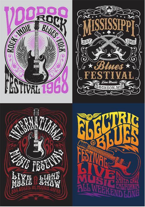 Grunge Symbols for T shirts vector