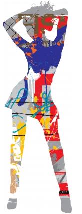Grunge silhouette vector design