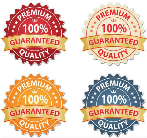 Guaranteed Stickers vector graphic