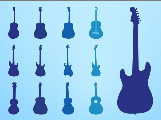 Guitar Silhouettes art vector