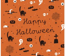 Halloween vector cartoon elements background illustration