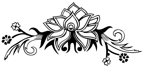 Hand Drawn Flower Design vector