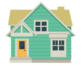 Hand drawn house vector