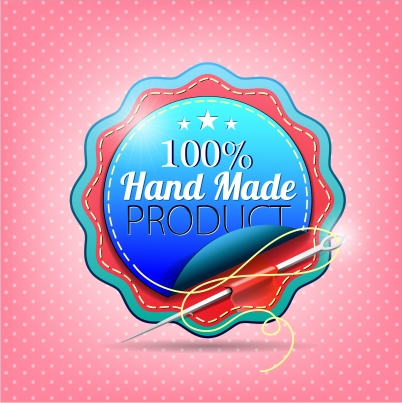 Hand made badge Free set vector