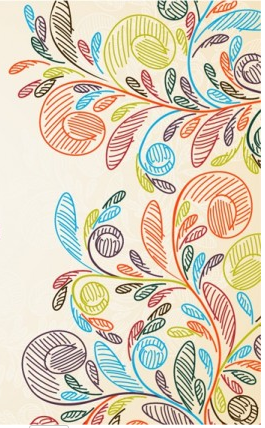 Hand painted background pattern vector