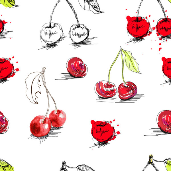 Hand painted fruit 2 vector
