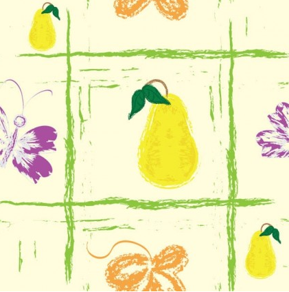 Handpainted fruit background 2 vectors