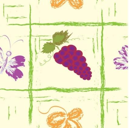 Handpainted fruit background 5 vector
