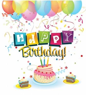 Happy Birthday free set vector