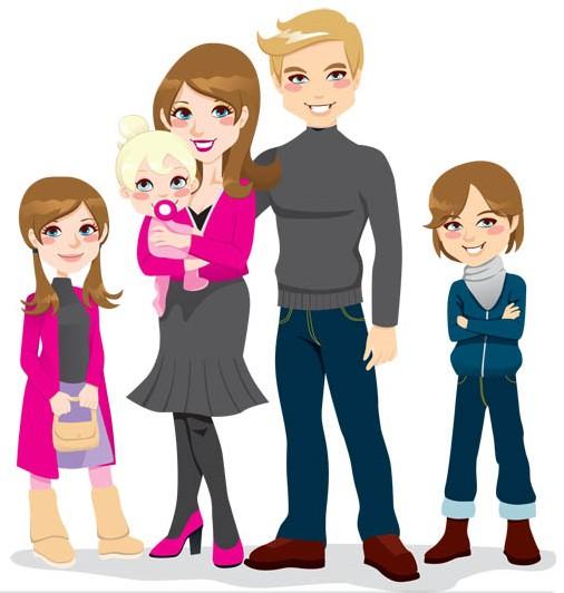 Happy Family 2 vector