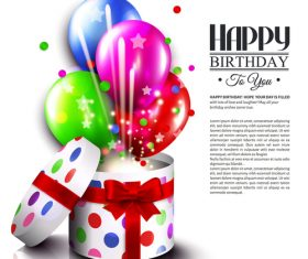 Happy birthday card with gift boxs design vector 01