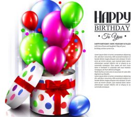 Happy birthday card with gift boxs design vector 02