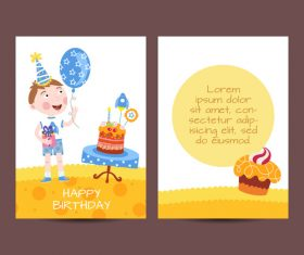 Happy birthday greenting card cartoon styles vector 01