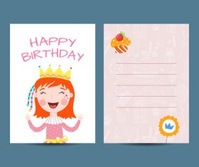 Happy birthday greenting card cartoon styles vector 04