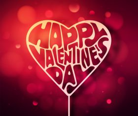 Happy valentine day blurs background vectors