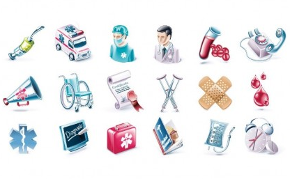 Health and Medical Vector Icon Set vector graphics