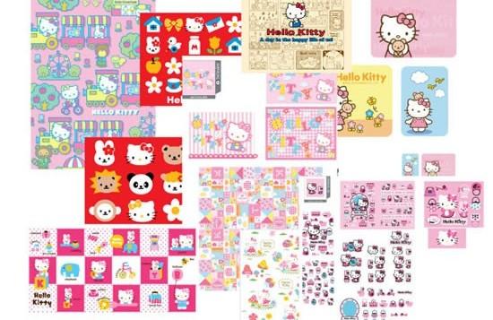 Hello Kitty designs vector