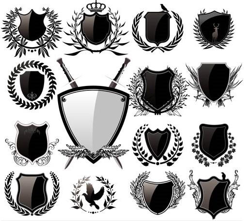 Heraldic Signs Templates vectors