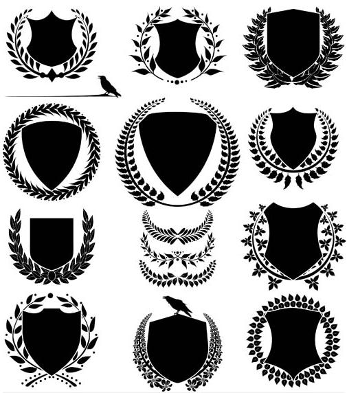 Heraldic Signs Templates 3 vector