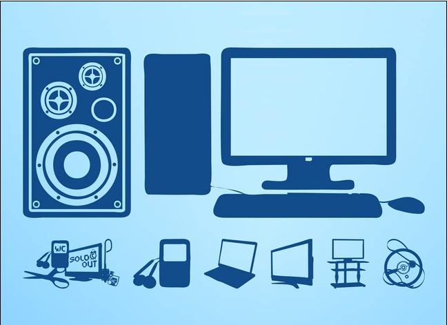 Hi Tech Devices Illustration vector