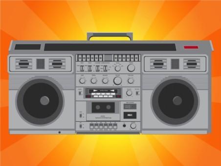 Hip Hop Radio vector set