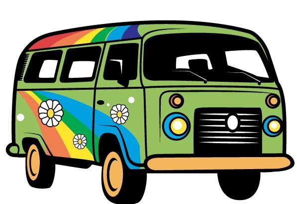 Hippie Van Art vectors
