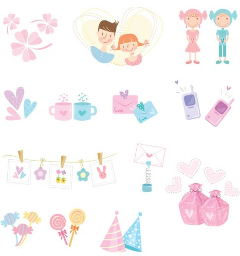 Holiday Icons free set vector